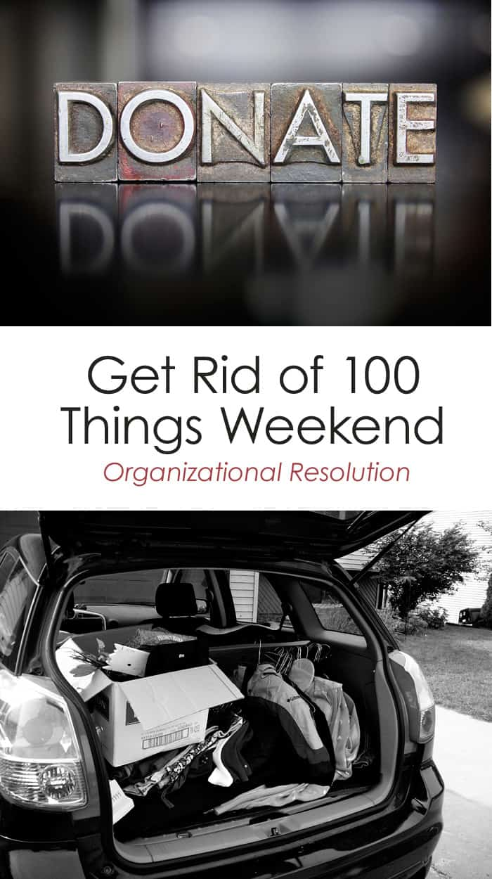 Get Rid of 100 Things Weekend // Organizational Resolution *I am so doing this
