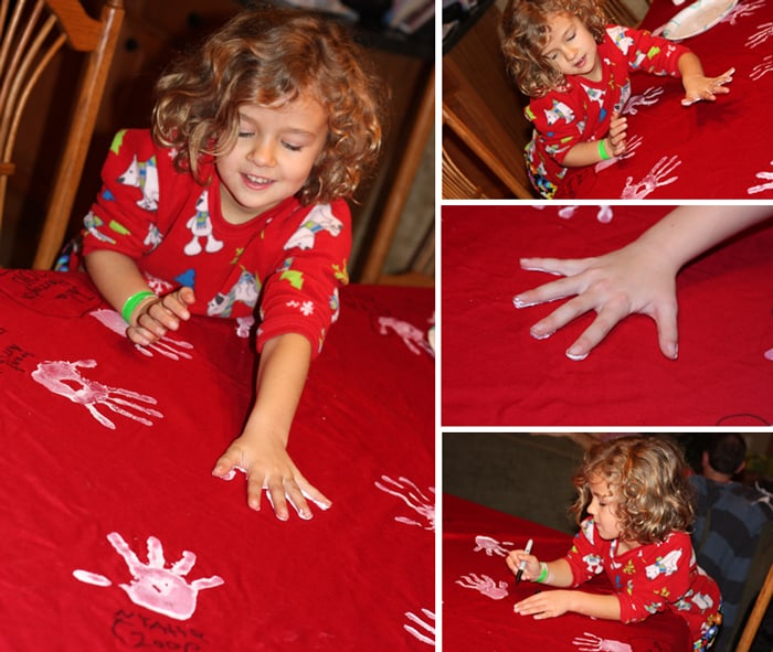 Unique Holiday Gift | Handprint Table Cloth