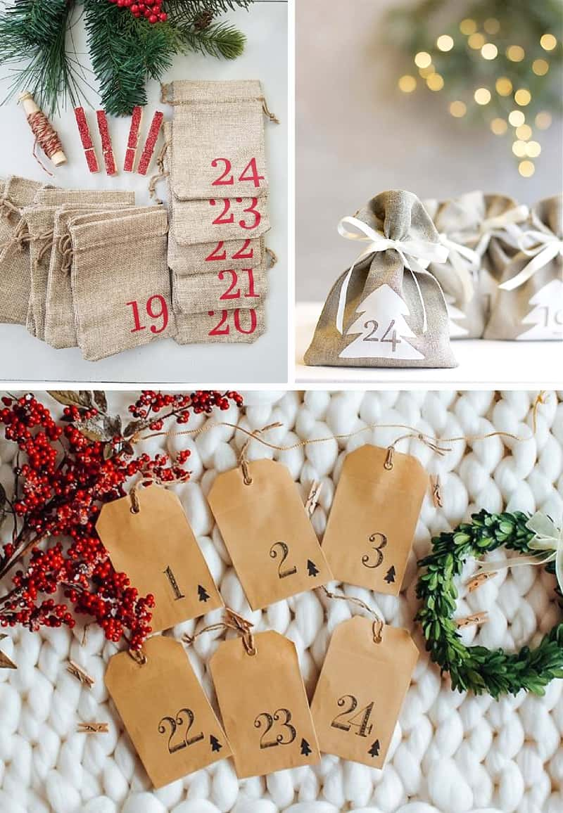 These Etsy advent calendar goodie bags are just too cute #adventcalendar #christmas *Loving this post with advent calendar ideas that go beyond chocolate