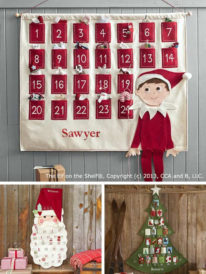 These Pottery Barn advent calendars are just too cute #adventcalendar #christmas *Loving this post with advent calendar ideas that go beyond chocolate