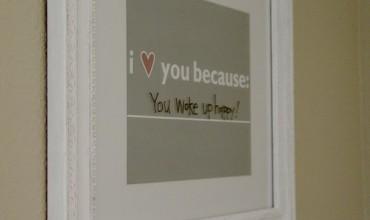 FREE PRINTABLE: I Love You Because…