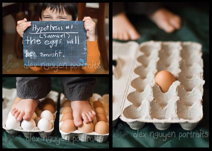 Walking on Egg Shells *awesome kids science experiment