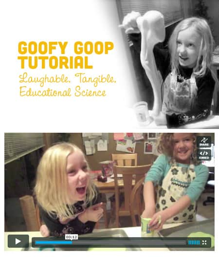 Goofy Goop Kid's Science Experiment