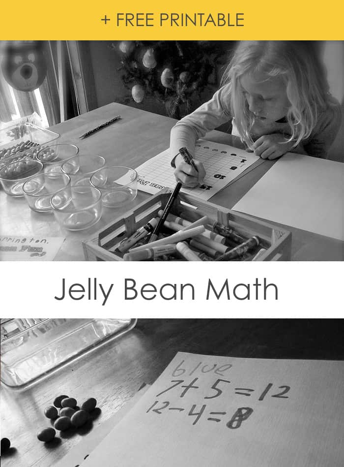 Jelly Bean Math Printable *love mixing educational + fun together