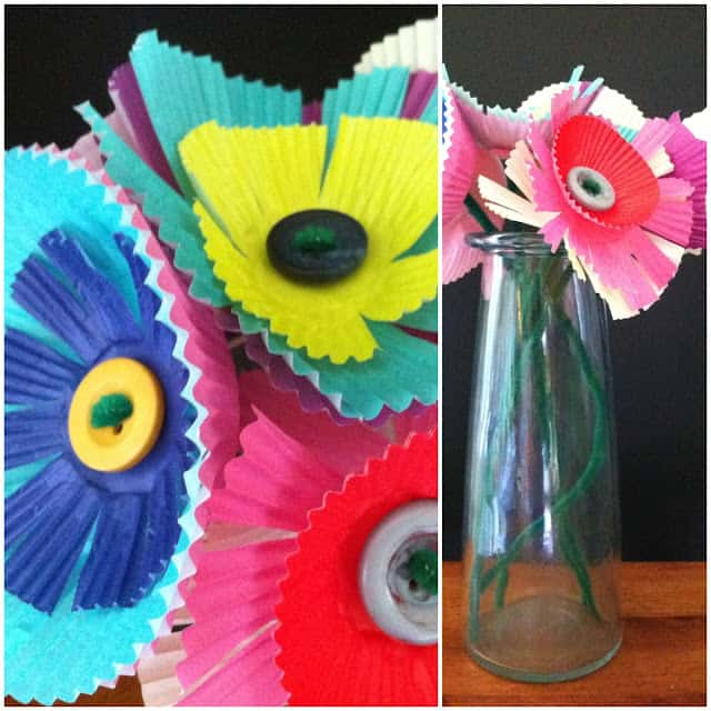 Muffin Cup Flowers + More!