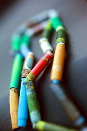 Recycled Paper Beads + More!