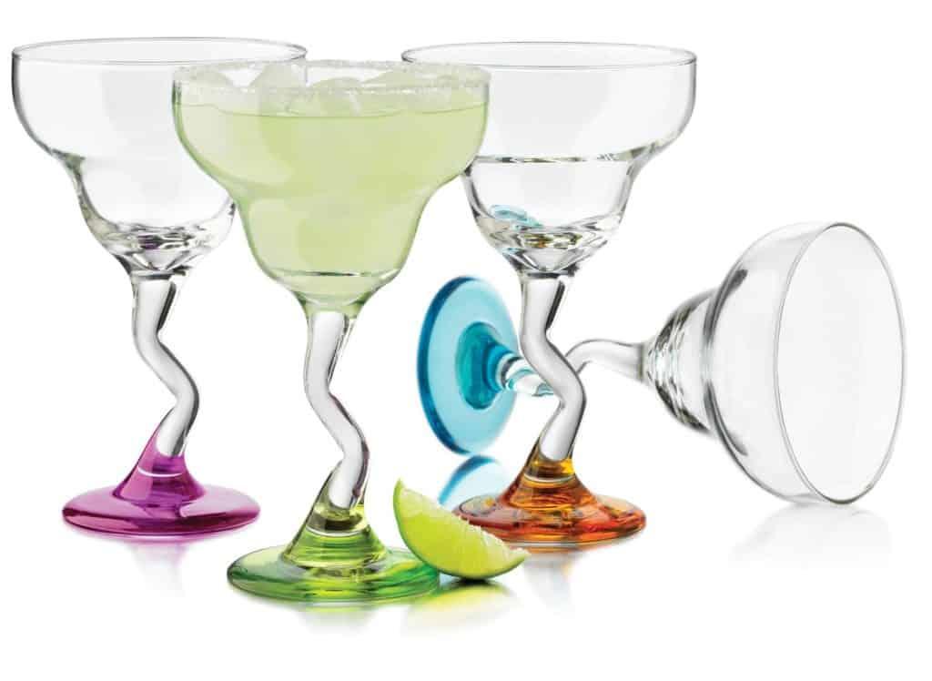 Colorsful Margarita Glass Set