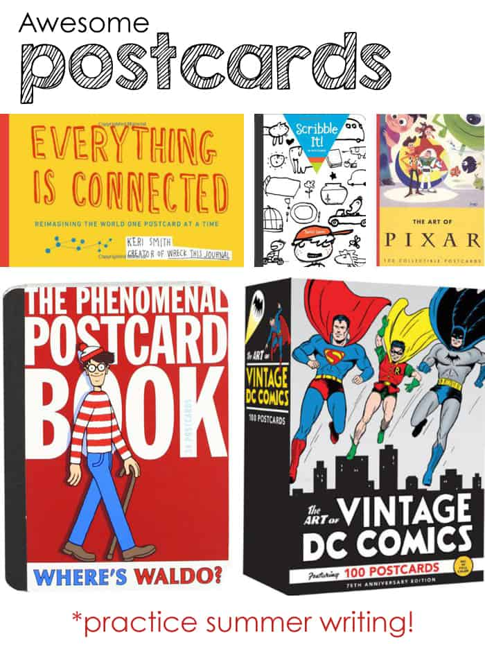 Awesome postcards for kids *practice summer writing!