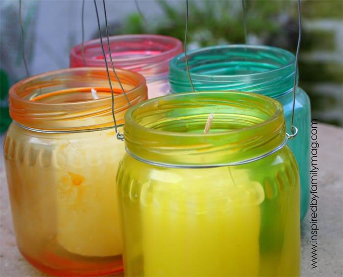 Decorative Dyed Jars