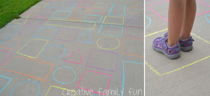 Driveway Shape Maze by Creative Family Fun | Featured on Let's Lasso the Moon