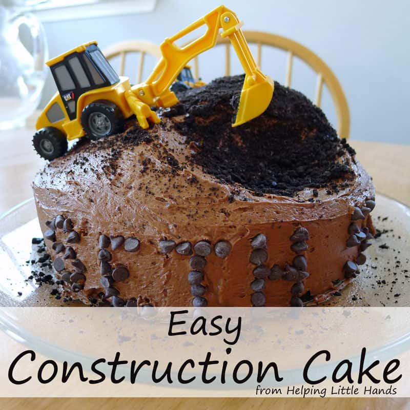 Oreo Construction Birthday Cake