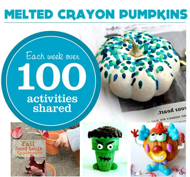 Melted Crayon Pumpkins & More | Check out this week's Kid's Co-op!