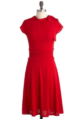 Dance Floor Date Dress in Scarlet