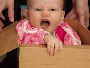 Baby in a Box | Photo by Keith Williamson