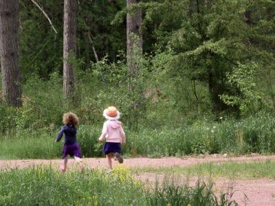 Little Girls Running