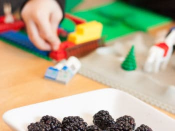 {Just put out berries} Tips getting kids to eat healthy..