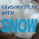 {Bring It In: Sensory Play with Snow} So simple, that it is brilliant!