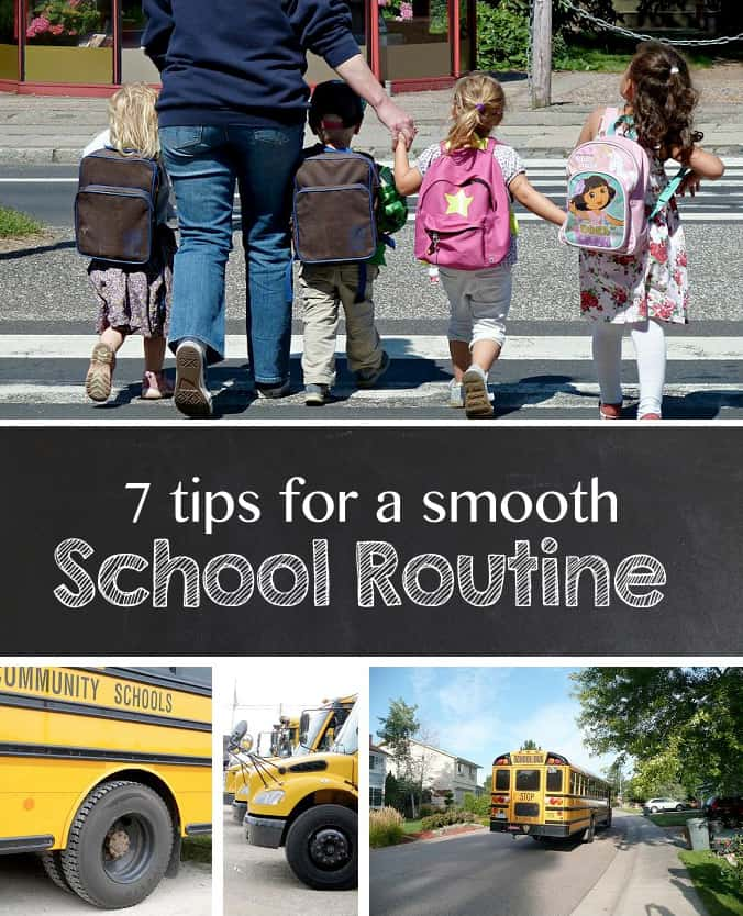7 Tips for a Smooth School Routine *Great list of tips