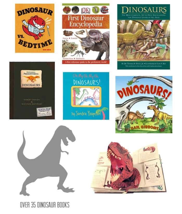 {35+ Dinosaur Books} *Plus 7 tips for studying them
