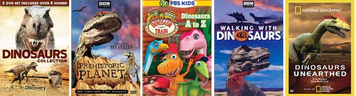 {30 Dinosaur DVDs} *Plus 7 outher resouces for studying dinosaurs