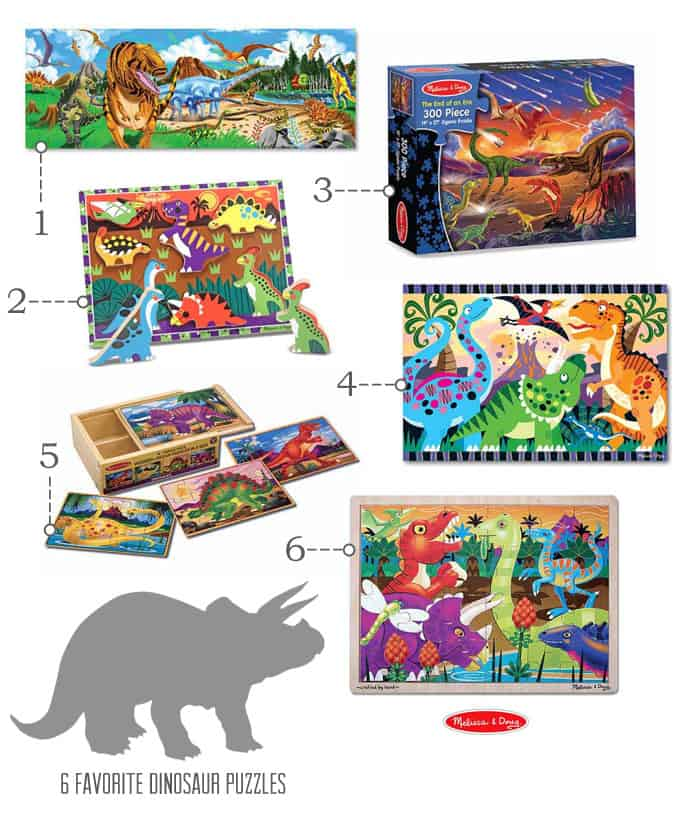 {Awesome Dinosaur Puzzles} *Plus 7 tips for studying dinosaurs...