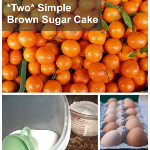 {Two Simple Brown Sugar Cake} Two cups across the board makes this a cinch. Canned manderain orange cake recipe with brown sugar glaze *DELICIOUS