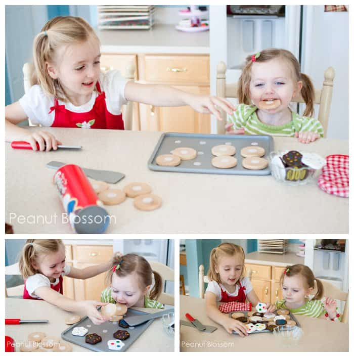 {Golden-Brown Every Time} *5 ways to practice math with wooden cookies