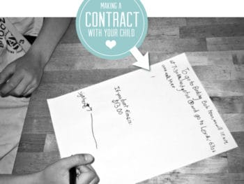 """Makine a """"Binding Contract"""" with Your Child"""