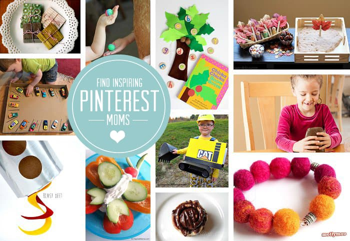{Connect with Inspiring Pinterest Moms} Great list of people...