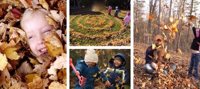 {10 Must-Try Ideas for Outdoor Fall Play} *Including leaf mazes