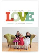 {Wishing you joy, peace, and LOVE} *Cute holiday card