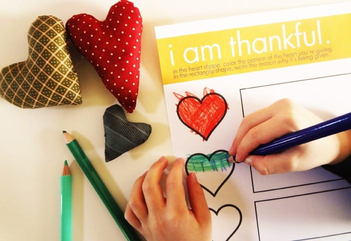 A Thankful Heart — A Thanksgiving Activity for Kids