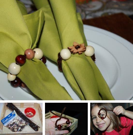 Beaded Napkin Rings by Melissa Allen of Green Owl Art