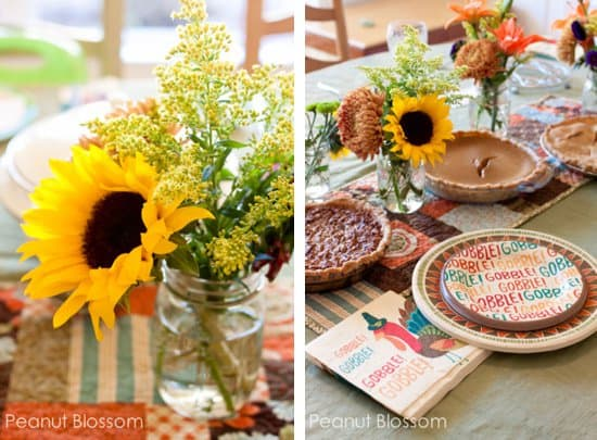 Mini-Thanksgiving Flower Bouquets by Tiffany Dahle of Peanut Blossom