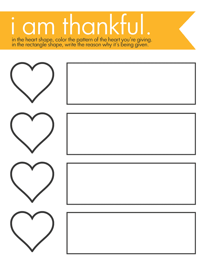 A Thankful Heart - A Thanksgiving Activity for Children *We did this project with our preschool kids last year during the holidays and they loved it. The free gratitude printable is adorable.