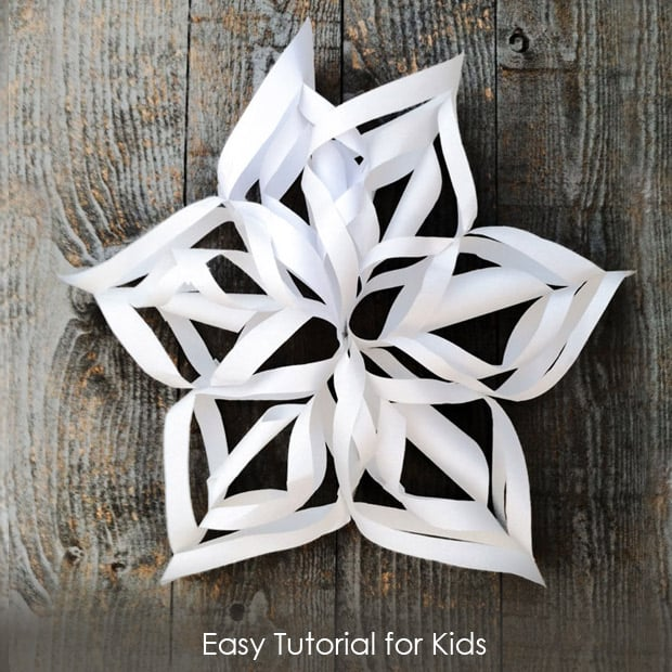 Super Simple Gigantic 3d Snowflake Tutorial