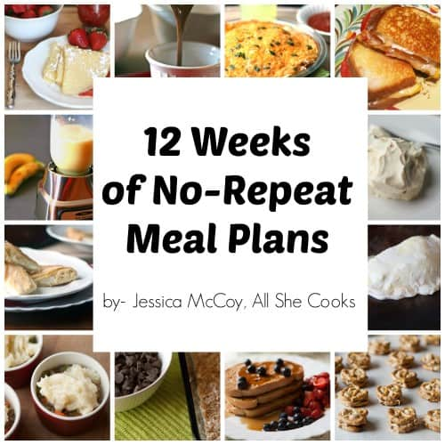 12-weeks of No-repeat Meal Plans