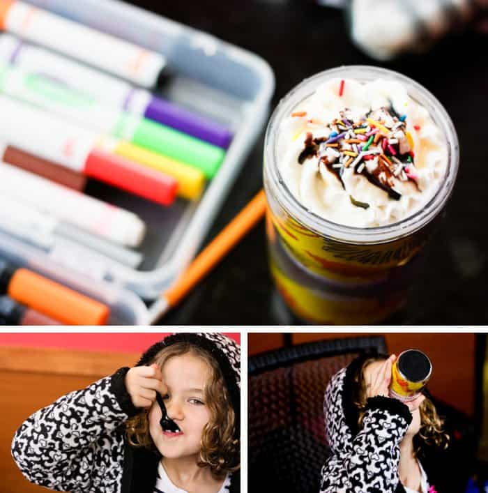 {Life is better with whip cream and sprinkles} Make a hot cocoa and coffee writing date with your little one.