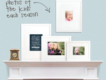 "{Unique Gift} Give a gallery of ""Change of Art"" frames and send new pics of kids each season"