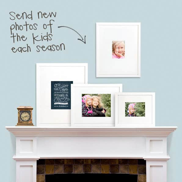 """{Unique Gift} Give a gallery of """"Change of Art"""" frames and send new pics of kids each season"""