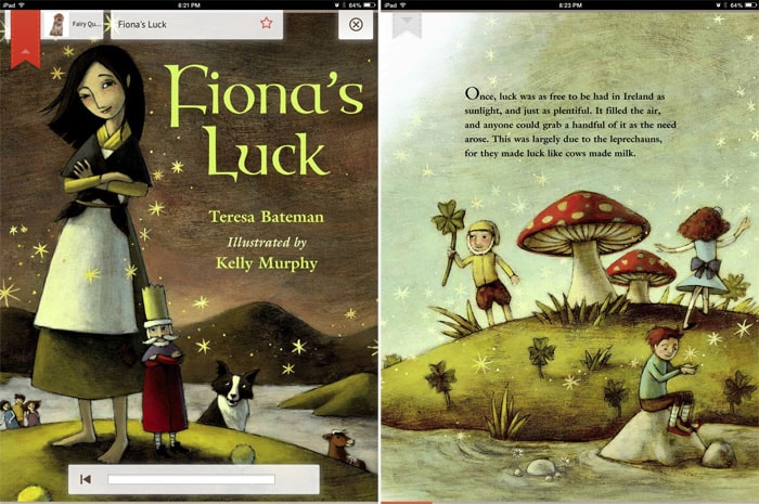Irish fantasy-adventure Fiona's Luck by Teresa Bateman.