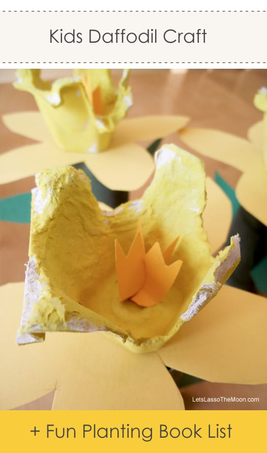 Adorable Egg Carton Daffodil Kids Craft *I'm going to reserve these books today