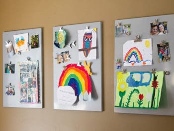 Displaying Kids Art