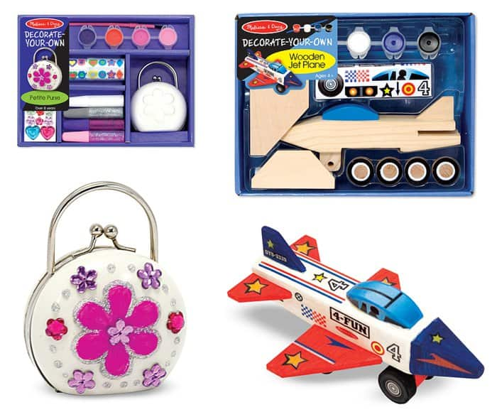 Adorable decorate your own projects from Melissa & Doug *Perfect candy alternative for Easter