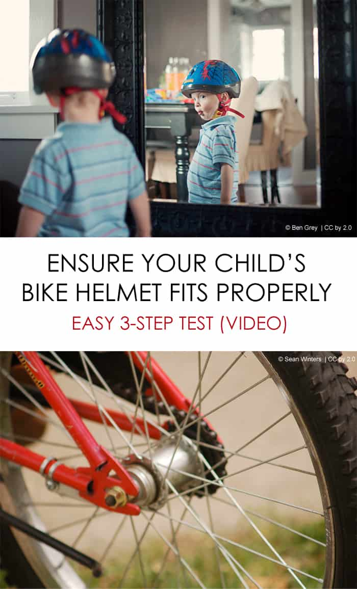 Bike Safety: 3-step test to ensure your child's helmet fits properly *great video