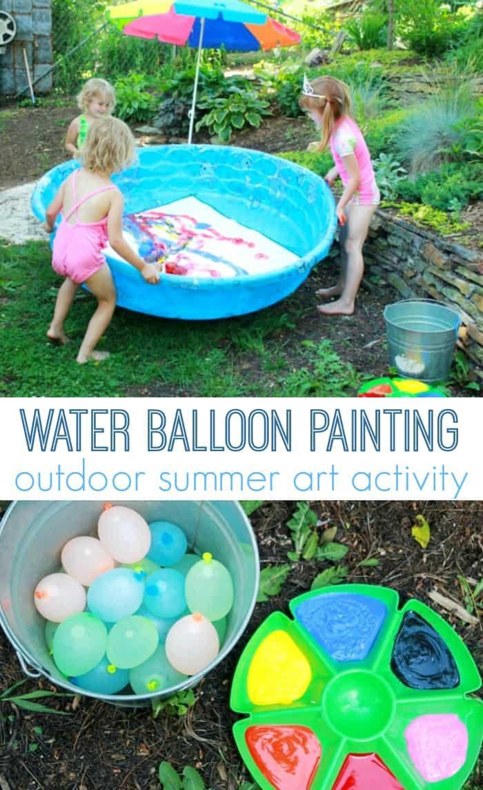 Water Balloon Painting Outdoor Summer Art Activity
