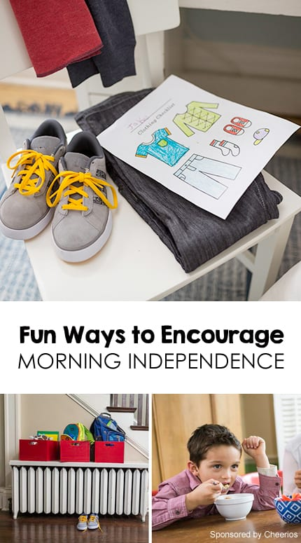 3 Tips for Fostering Morning Independence *great ideas and printables
