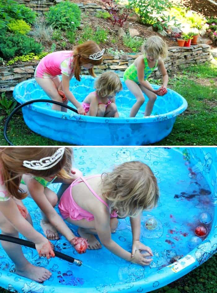 Giant Abstract Art: Gross Motor Painting *water balloon painting in pool. adding this to my summer bucket list.