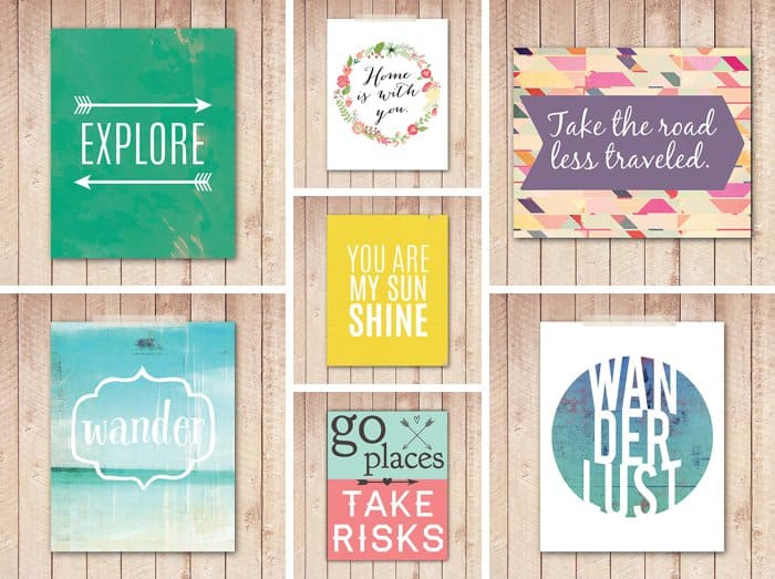 Wanderlust Printables #travel #quotes *love these