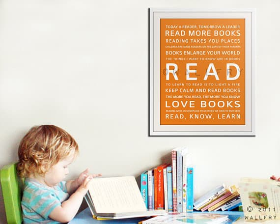 Love this Etsy READ print for a child's playroom
